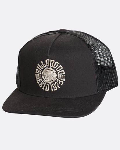 0 Flatwall Trucker Hat Black N5CT04BIP9 Billabong