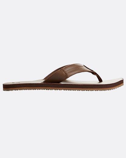 1 Seaway Leather Sandals Braun N5FF13BIP9 Billabong