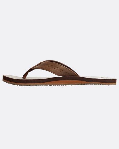 2 Seaway Leather Sandals Braun N5FF13BIP9 Billabong