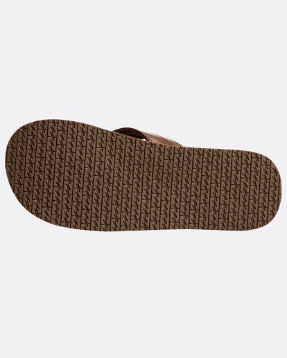 3 Seaway Leather Sandals Braun N5FF13BIP9 Billabong
