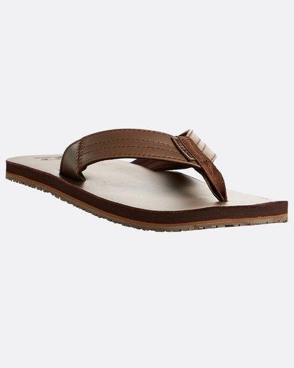 4 Seaway Leather Sandals Braun N5FF13BIP9 Billabong