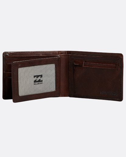 3 Vacant Leather - Leder-Brieftasche für Herren Braun N5LW02BIP9 Billabong