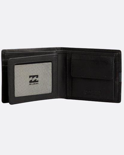3 Dbah Leather - Leder-Brieftasche für Herren Schwarz N5LW03BIP9 Billabong