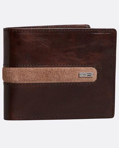 0 Dbah Leather - Leder-Brieftasche für Herren Braun N5LW03BIP9 Billabong