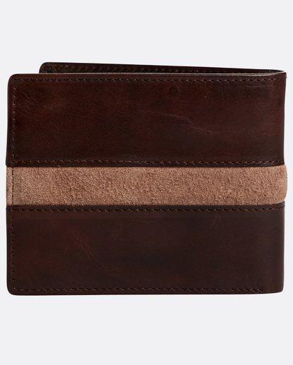 1 Dbah Leather - Leder-Brieftasche für Herren Braun N5LW03BIP9 Billabong