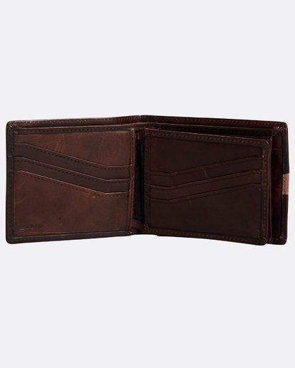 2 Dbah Leather - Leder-Brieftasche für Herren Braun N5LW03BIP9 Billabong