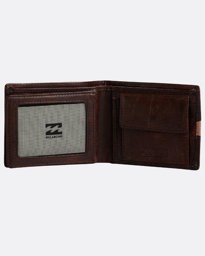 3 Dbah Leather - Leder-Brieftasche für Herren Braun N5LW03BIP9 Billabong