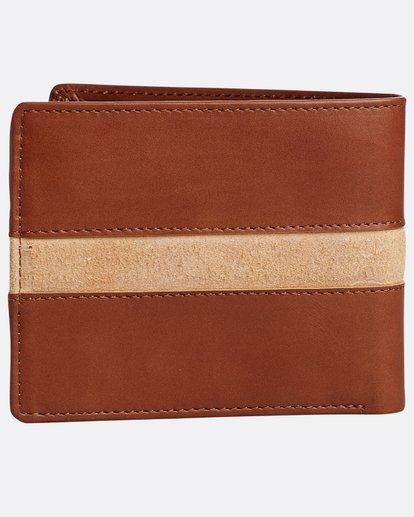 1 Dbah Leather - Cartera de cuero para Hombre Beige N5LW03BIP9 Billabong
