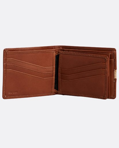 2 Dbah Leather - Cartera de cuero para Hombre Beige N5LW03BIP9 Billabong