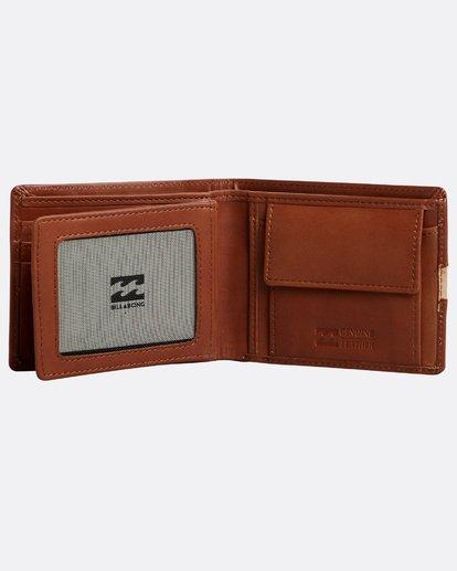 3 Dbah Leather - Cartera de cuero para Hombre Beige N5LW03BIP9 Billabong