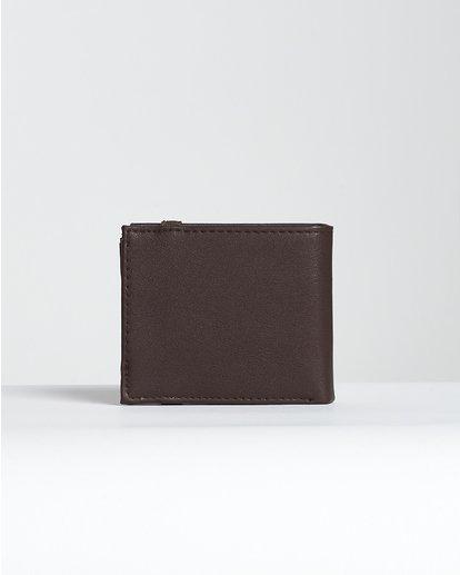 3 Locked Id - Leder-Brieftasche für Männer Braun N5WM06BIP9 Billabong