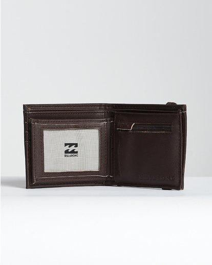 4 Locked Id - Leder-Brieftasche für Männer Braun N5WM06BIP9 Billabong