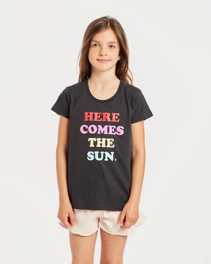 2 Girls' Billie T-Shirt Schwarz N8SS01BIP9 Billabong