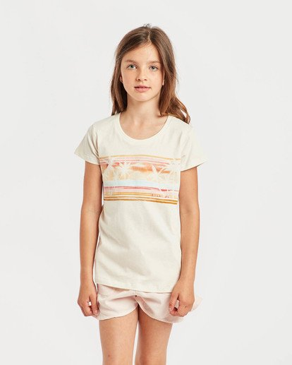 2 Girls' Billie T-Shirt Beige N8SS01BIP9 Billabong