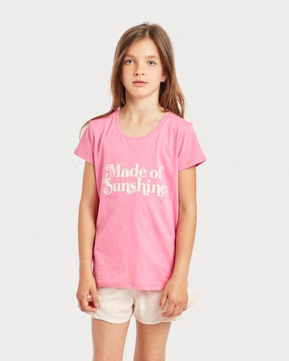 2 Girls' Billie T-Shirt Pink N8SS01BIP9 Billabong