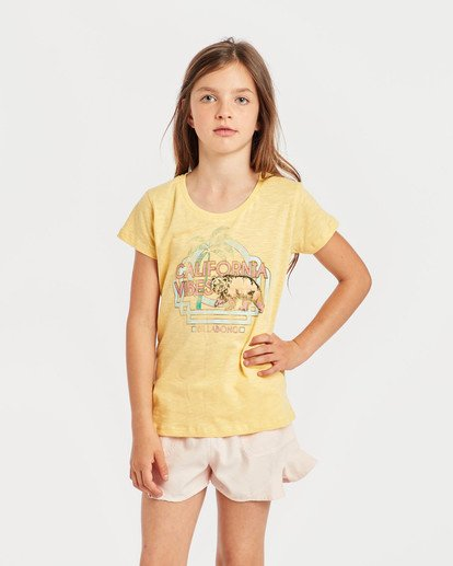 2 Girls' Moppet T-Shirt Amarillo N8SS02BIP9 Billabong