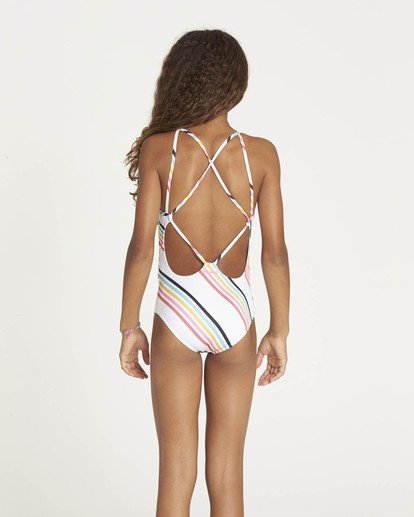1 Girls' Seeing Rainbows One Piece Swimsuit Multicolor N8SW05BIP9 Billabong