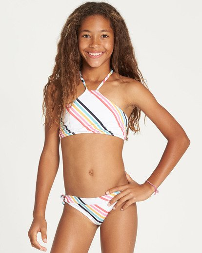 1 Girls' Seeing Rainbows High Neck Bikini Set  N8SW06BIP9 Billabong