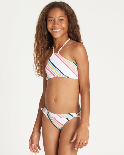 3 Girls' Seeing Rainbows High Neck Bikini Set  N8SW06BIP9 Billabong