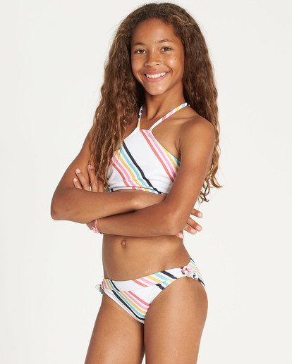 5 Girls' Seeing Rainbows High Neck Bikini Set  N8SW06BIP9 Billabong