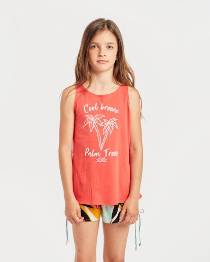 0 Girls' Billie Swing Tank Top Rot N8TT01BIP9 Billabong