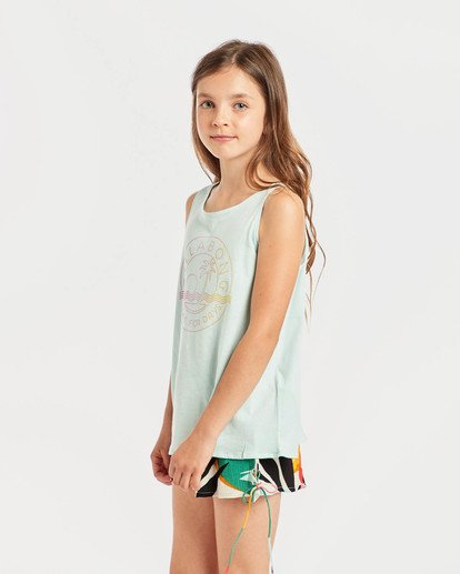 2 Girls' Billie Swing Tank Top Blau N8TT01BIP9 Billabong