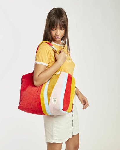 3 Chasing Paradise Oversized Beach Bag Red N9TV03BIP9 Billabong