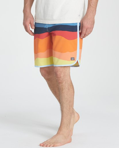 "4 73 Lineup Pro 19"" Boardshorts Orange P1BS04BIS9 Billabong"