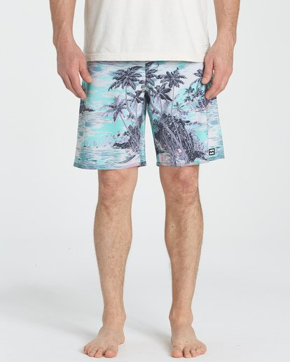 "8 Sundays Pro 19"" Boardshorts Bleu P1BS07BIS9 Billabong"