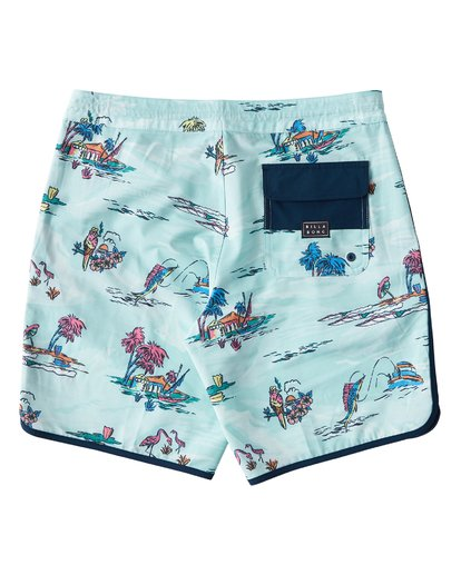 "1 73 Lineup Lo Tides 18"" Boardshorts Gray P1BS11BIS9 Billabong"