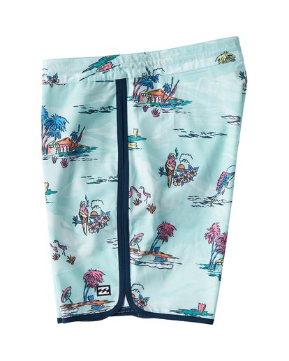 "3 73 Lineup Lo Tides 18"" Boardshorts Gray P1BS11BIS9 Billabong"