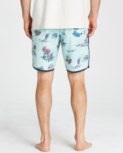 "8 73 Lineup Lo Tides 18"" Boardshorts Gray P1BS11BIS9 Billabong"