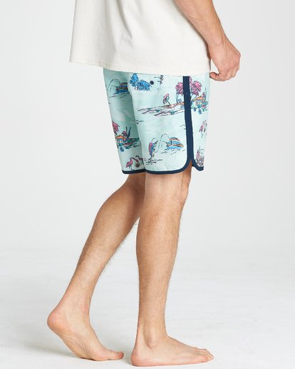 "9 73 Lineup Lo Tides 18"" Boardshorts Gray P1BS11BIS9 Billabong"
