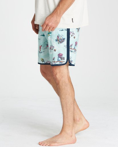 "10 73 Lineup Lo Tides 18"" Boardshorts Gray P1BS11BIS9 Billabong"
