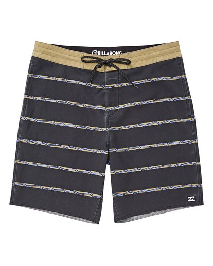 "0 Sundays Stripe Lo Tides 19"" Boardshorts Grau P1BS14BIS9 Billabong"