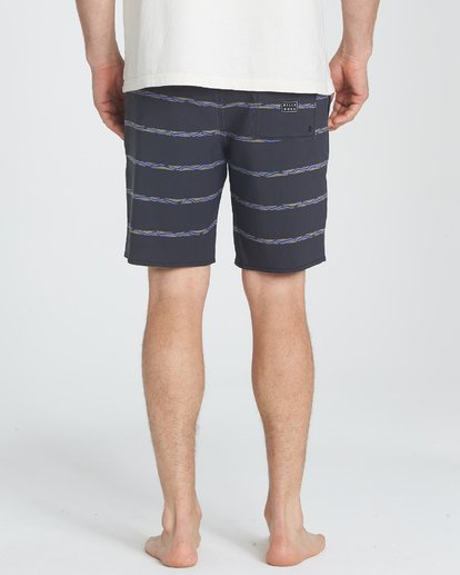 "3 Sundays Stripe Lo Tides 19"" Boardshorts Grau P1BS14BIS9 Billabong"