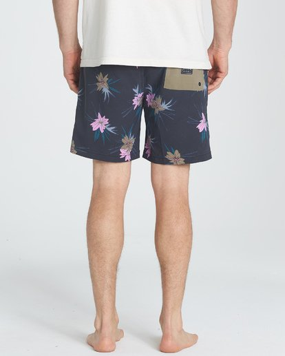 "3 Sundays Floral Layback 16"" Boardshorts Grau P1LB03BIS9 Billabong"
