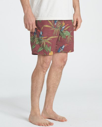 "5 Sundays Floral Layback 16"" Boardshorts Braun P1LB03BIS9 Billabong"