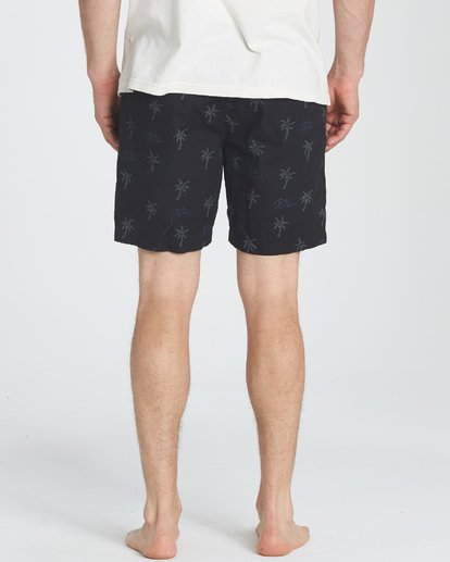 3 Larry Layback Sunday Shorts Negro P1WK06BIS9 Billabong