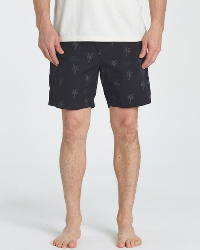 2 Larry Layback Sunday Shorts Negro P1WK06BIS9 Billabong