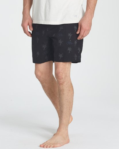 4 Larry Layback Sunday Shorts Negro P1WK06BIS9 Billabong