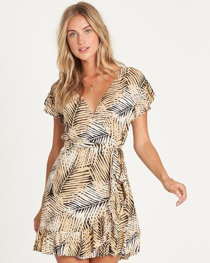 1 Wrap N Roll Wrap Dress Schwarz P3DR08BIS9 Billabong