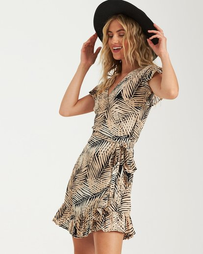 3 Wrap N Roll Wrap Dress Schwarz P3DR08BIS9 Billabong