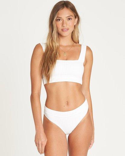 1 Sunny Rib Maui Rider Bikini Bottom White P3SB04BIS9 Billabong