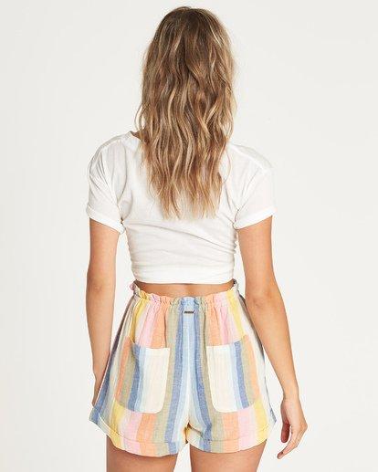 4 Double Rainbow High-Waisted Shorts  P3WK21BIMU Billabong