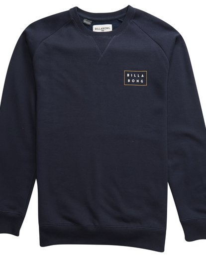 2 Die Cut Theme - Crew Pullover für Männer Blau Q1CR03BIF9 Billabong