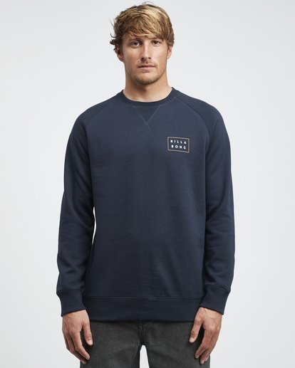 4 Die Cut Theme - Crew Pullover für Männer Blau Q1CR03BIF9 Billabong