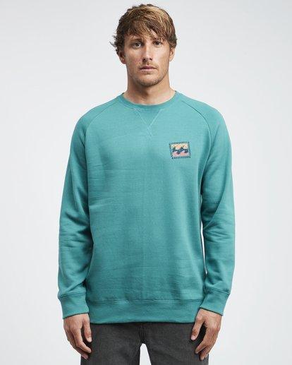 4 Iconic - Crew Pullover für Männer Grün Q1CR06BIF9 Billabong