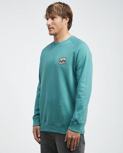 6 Iconic - Crew Pullover für Männer Grün Q1CR06BIF9 Billabong