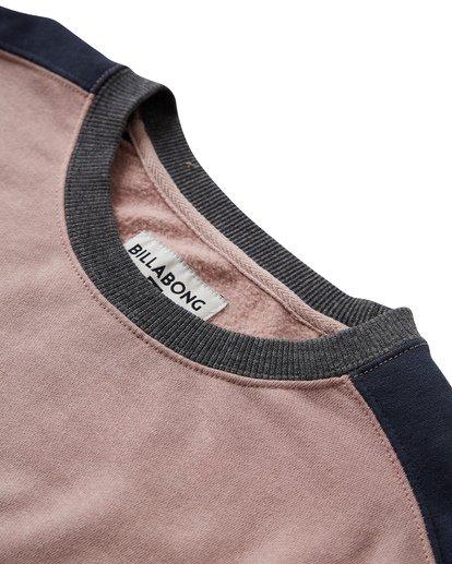 3 Wave Washed - Jersey de Cuello Redondo para Hombre Rosa Q1FL04BIF9 Billabong